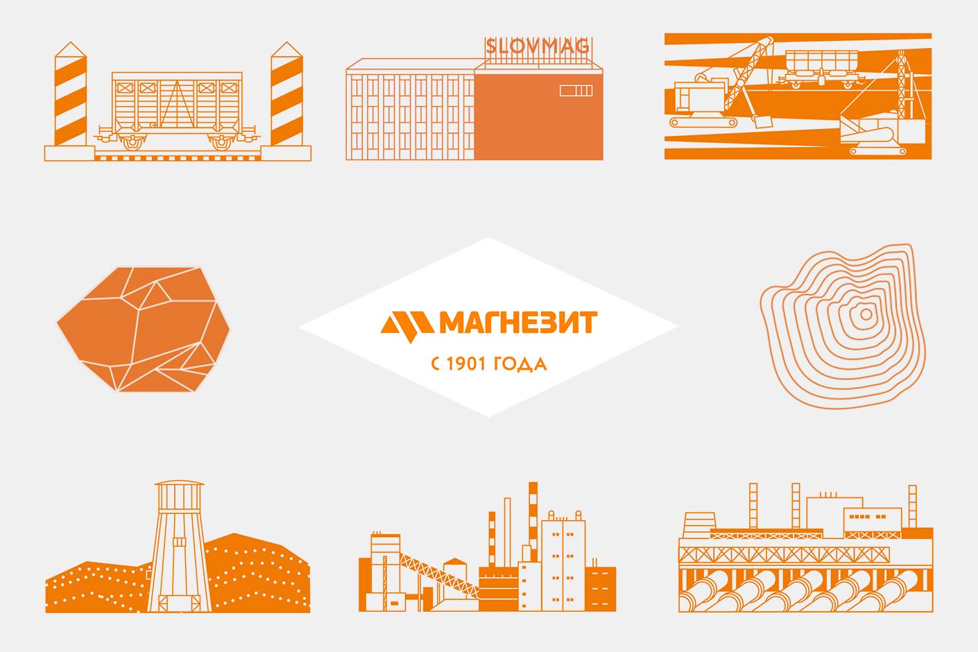 Корпоративные презентационные материалы к юбилею компании «Магнезит»
