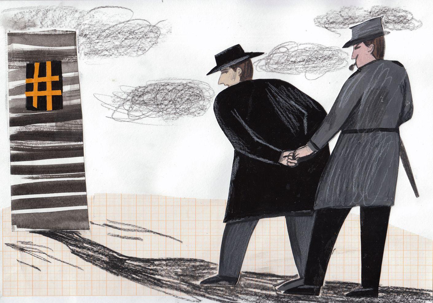 Серия иллюстраций к рассказу О.Генри «Русские соболя», автор Е.Чумаченко Лаборатория дизайна НИУ ВШЭ - hsedesignlab.ru