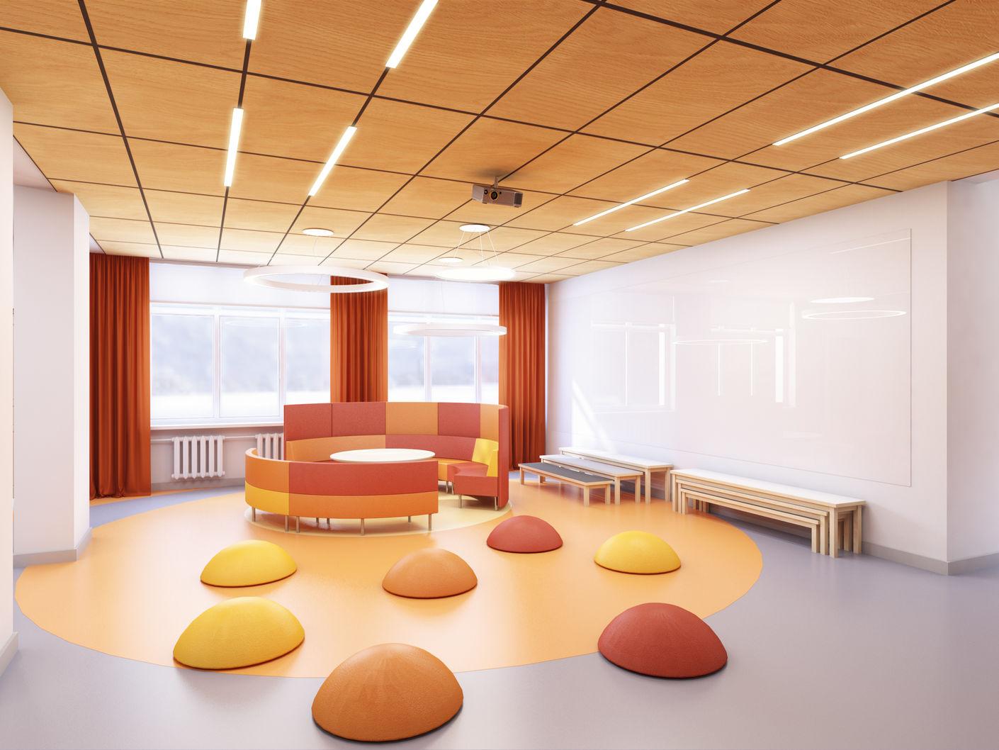 Дизайн школьной библиотеки в городе Сатка Лаборатория дизайна НИУ ВШЭ - hsedesignlab.ru