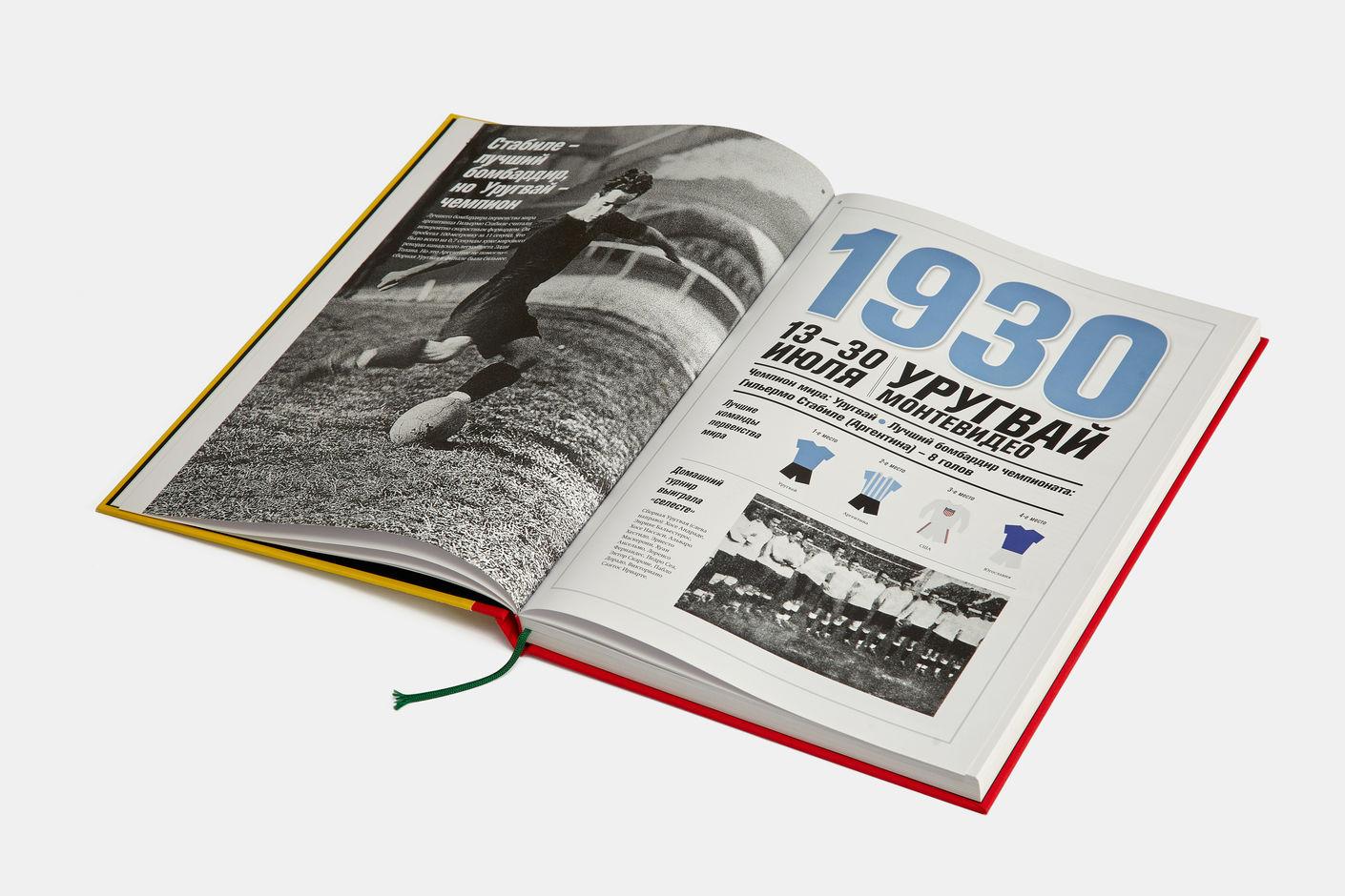 Подарочная книга Футбол. Чемпионаты мира 1930-2014, Агей Томеш, Лаборатория дизайна НИУ ВШЭ