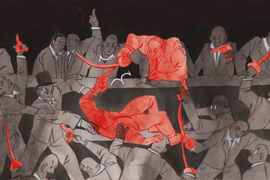 Иллюстрации для газеты «Москвич(ка)»— автор А.Рыжова