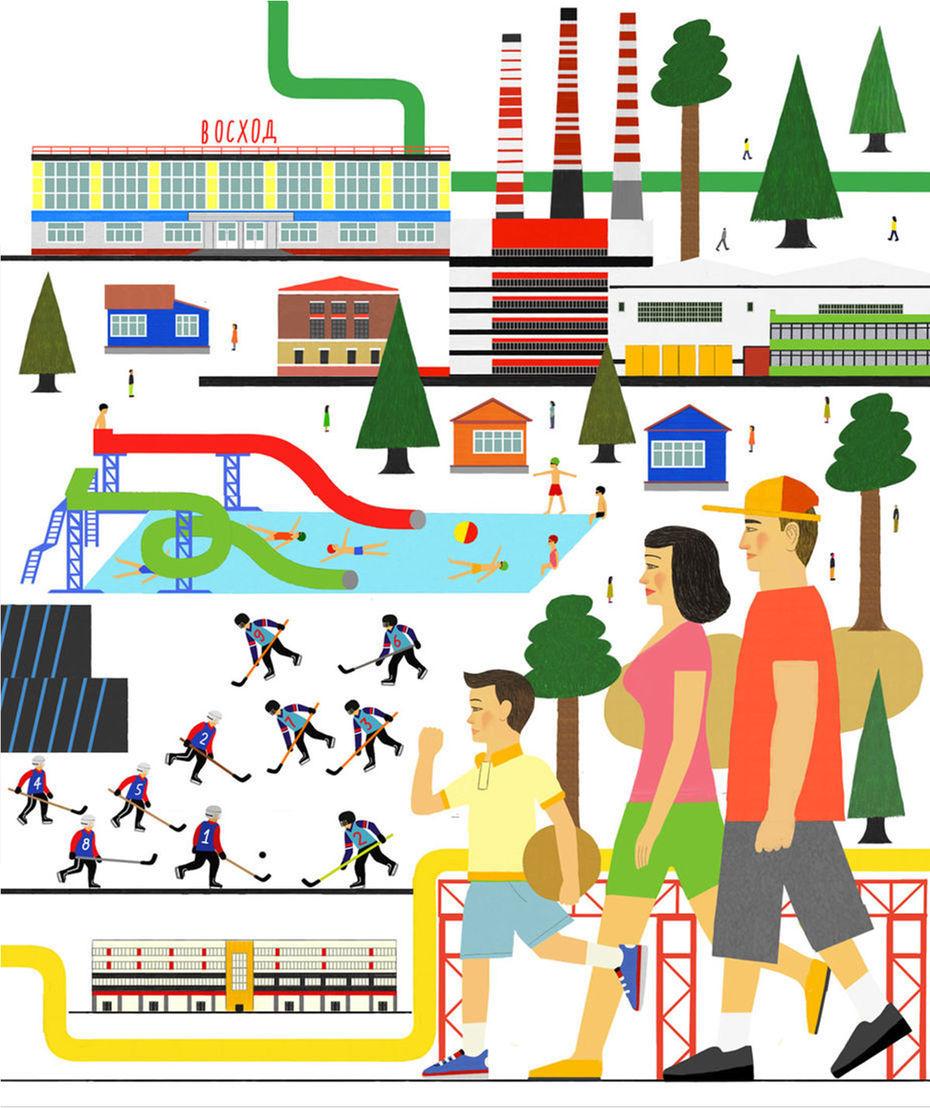 Иллюстрации для Челябинского трубопрокатного завода