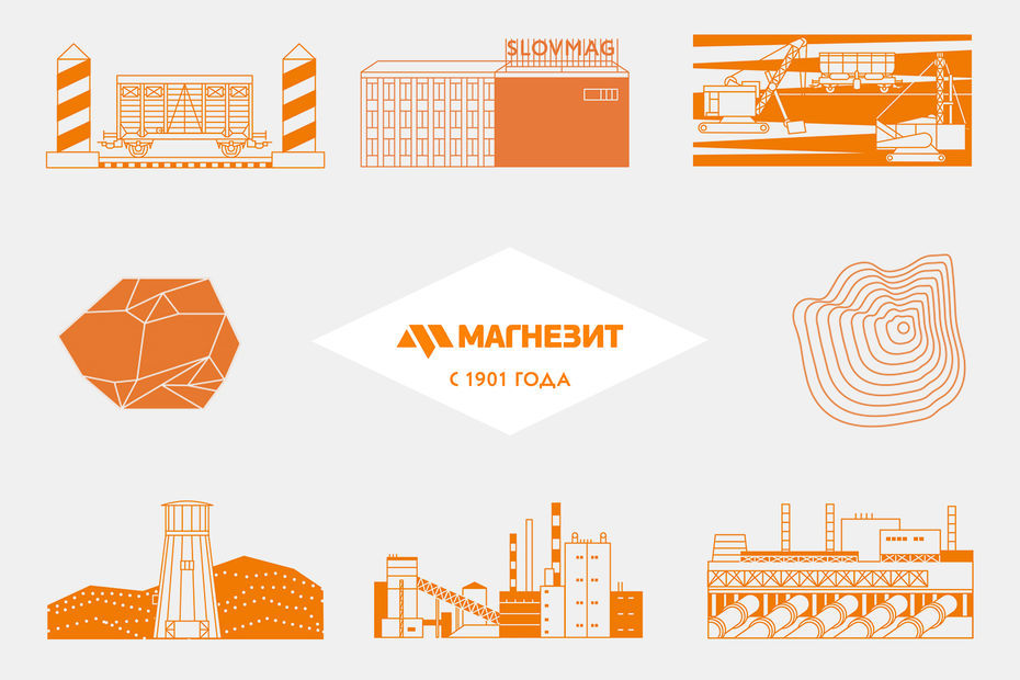 Дизайн презентационных материалов кюбилею компании «Магнезит»