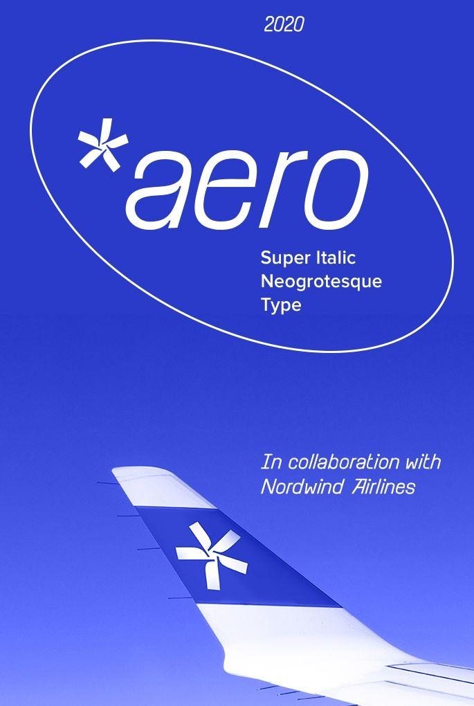 Шрифт Aero