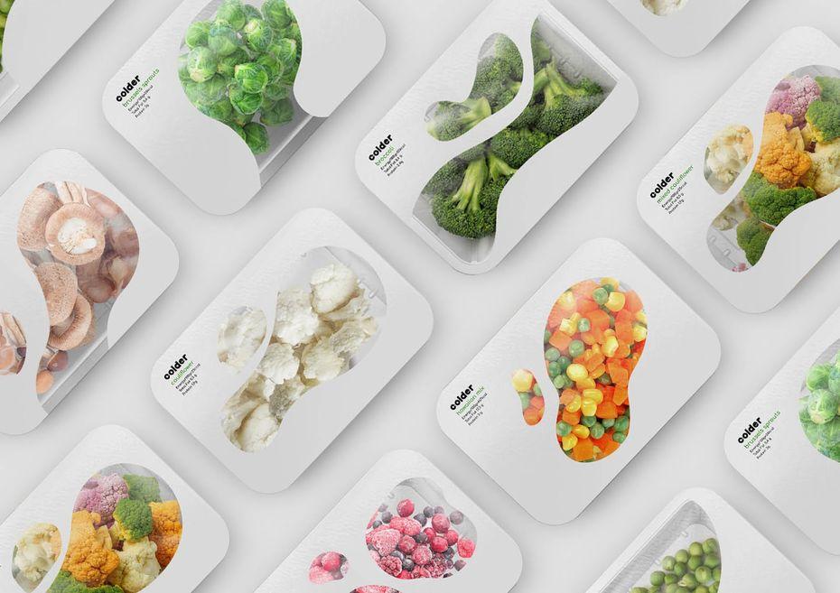 Упаковка замороженных фруктов иовощей Colder