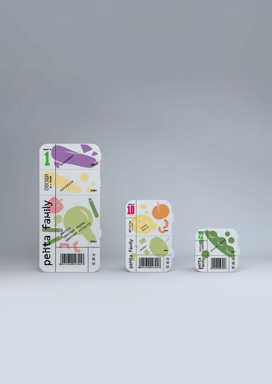 Дизайн упаковки для замороженных овощей ифруктов Pentafamily