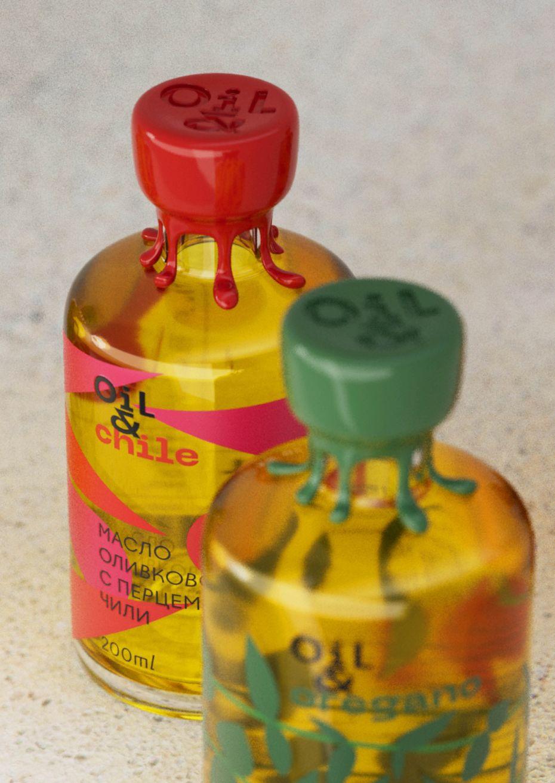 Дизайн упаковки растительный масел Oil&