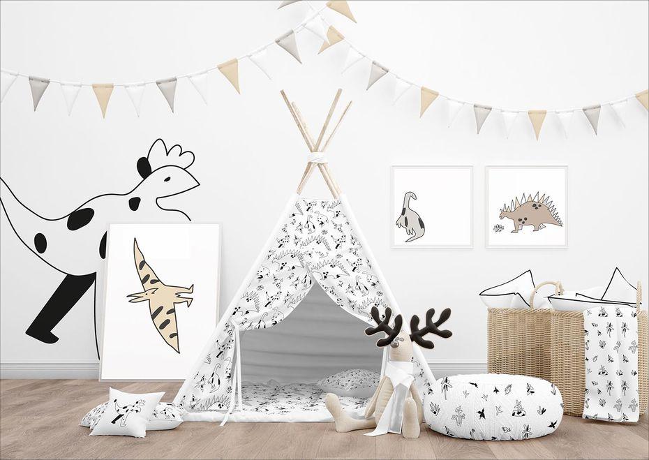 Иллюстративный стиль детской комнаты. Автор Алина Умирова