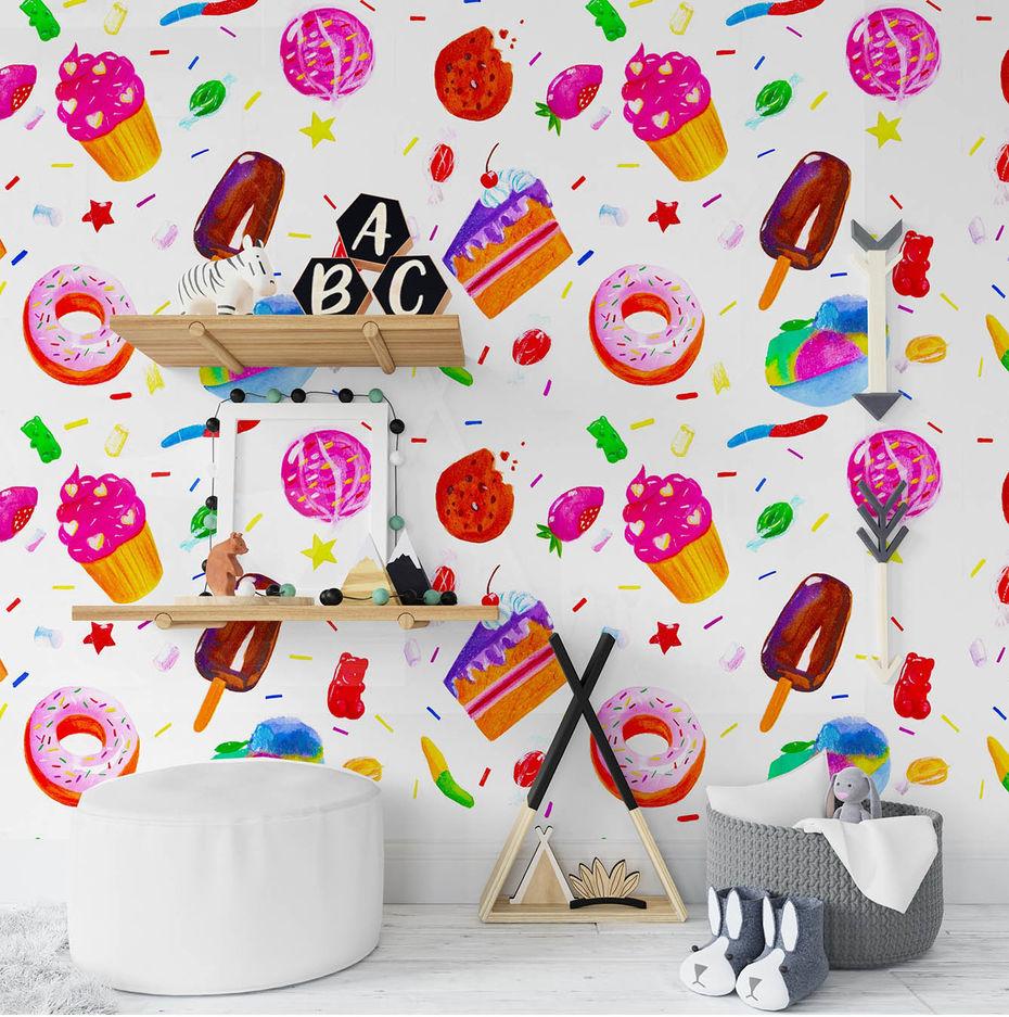 Иллюстративный стиль детской комнаты. Автор Мичийэ Куо Тумусова