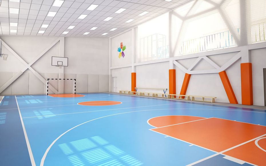 Дизайн спортивного центра для школы №41в г. Новокузнецке