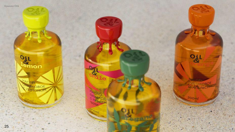 Дизайн упаковки растительных масел Oil&