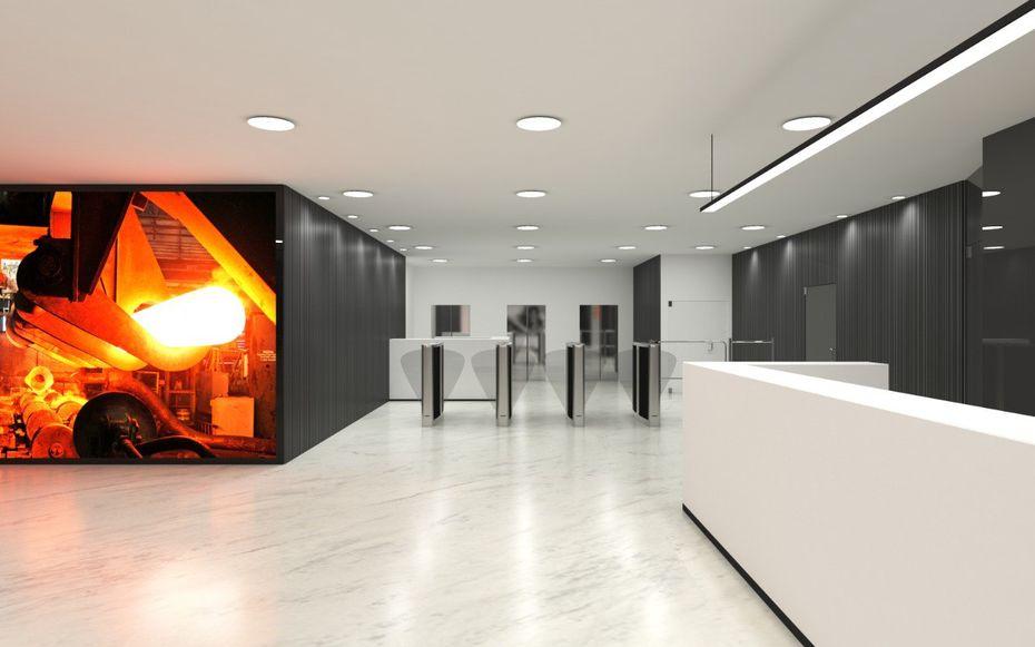 Входная зона центрального офиса компании ТМК